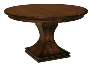 "WEST POINT - Westin Single Pedestal Table - Dimensions: 48"", 54"", or 60"" round with up to 2 leaves - Custom finish options available, please see store for details."