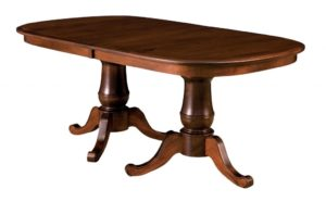 WEST POINT - Chancellor Double Pedestal Table - Dimensions (in inches): 42x72 or 48x72 with up to 4 leaves - Custom finish options available, please see store for details.