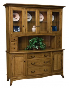 TOWNLINE - Montpelier 4-Door Hutch - Dimensions (in inches): 20d x 64w x 80h - Also available as a base-only sideboard - Custom features and finish options available, please see store for details.