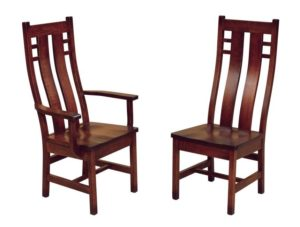 F & N - Cascade Arm and Side Chair - Dimensions (in inches): Side Chair 18w x 16d x 45.5h, Arm Chair 25w x 16d x 45.5h - Other available styles include arm bench, swivel bar stool, stationary bar stool, and desk chair.
