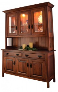 TOWNLINE - Ouray 3-Door Hutch - Dimensions (in inches): 20d x 60w x 80h, also available 2-Door 20d x 48w x 80h or 3-Door 20d x 69w x 80h - Also available as base-only sideboard - Custom features and finish options available, please see store for details.