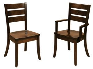 F & N - Savannah Side Chair and Arm Chair - Dimensions (in inches): Side Chair 18.5w x 17d x 38h, Arm Chair 23w x 17d x 38h - Other available styles include swivel bar stool and desk chair.