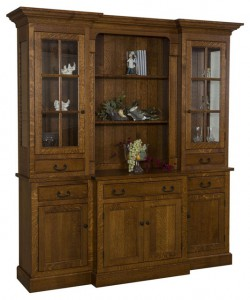 TOWNLINE - Reagan 4-Door Hutch - Dimensions (in inches): 20d x 72w x 84h - Also available as base-only sideboard - Custom features and finish options available, please see store for details.