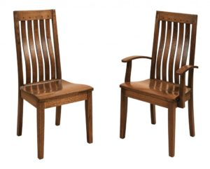F & N - Fresno Side Chair and Arm Chair - Dimensions (in inches): Side Chair 20w x 17.5d x 41h, Arm Chair 23w x 17.5d x 41h - Other available styles include swivel bar stool, stationary bar stool, and desk chair.