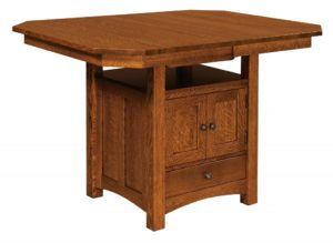 WEST POINT - Basset Cabinet Table - Dimensions (in inches): 42x42, 42x48, 42x54, 48x48, or 48x54 with up to 1 leaf or as a solid top - Custom finish options available, please see store for details.