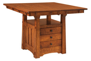 WEST POINT - Beaumont Cabinet Table - Dimensions (in inches): 42x42, 42x48, 42x54, 48x48, or 48x54 with up to 1 leaf or as a solid top - Custom finish options available, please see store for details.