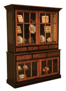TOWNLINE - Sherwood 2-Door Hutch - Dimensions (in inches): 20d x 60w x 80.5h - Also available as base-only sideboard - Custom features and finish options available, please see store for details.