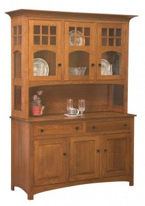 TOWNLINE - Tribecca 3-Door Open Deck Hutch - Dimensions (in inches): 20d x 56w x 80h, also available as 2-Door - 20d x 39w x 80h, or 4-Door - 20d x 72w x 80h - Also available as base-only sideboard - Custom features and finish options available, please see store for details.