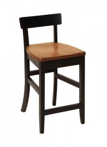 F & N - Edison Stationary Bar Stool - Dimensions (in inches): 17w x 16d x 34h 24h or 30h (Seat) - No other chair styles available.