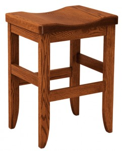F & N - Clifton Stationary Bar Stool - Dimensions (in inches): 18w x 14d x 24h or 30h (Seat).
