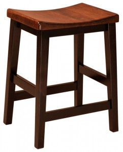 F & N - Coby Stationary Bar Stool - Dimensions (in inches): 18w x 14d x 24h or 30h (Seat).