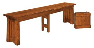 WEST POINT - Beaumont Bench - Dimensions (in inches): 12.5 x 24 and 12.5 x 36 Solid Top Only, 12.5 x 48, 12.5 x 60, and 12.5 x 72 Solid Top or up to 4 Leaves.