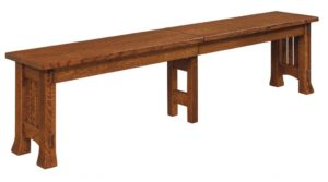 WEST POINT - Olde Century Bench - Dimensions (in inches): 12.5 x 24, 12.5 x 36 Solid Top Only, 12.5 x 48, 12.5 x 60, and 12.5 x 72 solid top or up to 4 leaves - Custom finish options available, please see store for details.