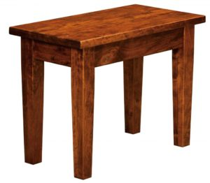 WEST POINT - Denver Bench - Dimensions (in inches): 12.5 x 24, 12.5 x 36 Solid Top Only, 12.5 x 48, 12.5 x 60, 12.5 x 72 Solid Top or up to 4 Leaves.