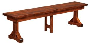 WEST POINT - Chesapeake Bench - Dimensions (in inches): 12.5 x 48, 12.5 x 60, 12.5 x 72, with up to 3-16 inch leaves.