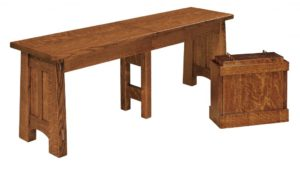 WEST POINT - McCoy Bench - Dimensions (in inches): 12.5 x 24 and 12.5 x 36 Solid Top Only, 12.5 x 48, 12.5 x 60, and 12.5 x 72 Solid Top or up to 4 Leaves.