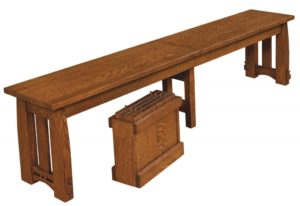 WEST POINT - Colebrook Bench - Dimensions (in inches): 12.5 x 24 and 12.5 x 36 Solid Top Only, 12.5 x 48, 12.5 x 60, and 12.5 x 72 Solid Top or up to 4 Leaves.