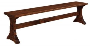 WEST POINT - Manchester Bench - Dimensions (in inches): 12.5 x 24, 12.5 x 36, 12.5 x 48, 12.5 x 60, and 12.5 x 72 solid tops only - Custom finish options available, please see store for details.