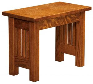 WEST POINT - Mission Bench - Dimensions (in inches): 12.5 x 24, 12.5 x 36 Solid Top Only, 12.5 x 48, 12.5 x 60, and 12.5 x 72. Solid Top or up to 4 Leaves.