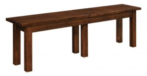 WEST POINT - Heidi Bench - Dimensions (in inches): 12.5x24, 12.5x36 Solid Top Only, 12.5x48, 12.5x60, 12.5x72 as solid top or up to 4 leaves - Custom finish options available, please see store for details.