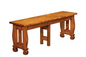 WEST POINT - Hampton Bench - Dimensions (in inches): 12.5 x 24, 12.5 x 36 Solid Top Only, 12.5 x 48, 12.5 x 60, 12.5 x 72. Solid Top or up to 4 Leaves.