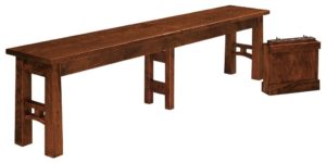 WEST POINT - Bridgeport Bench - Dimensions (in inches): 12.5 x 24, 12.5 x 36 Solid Top Only, 12.5 x 48, 12.5 x 60, and 12.5 x 72. Solid Top or up to 4 Leaves.