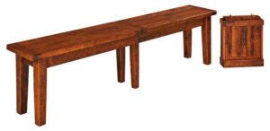 WEST POINT - Benson Bench - Dimensions (in inches): 12.5 x 48 , 12.5 x 60, 12.5 x 72 with up to 3-16 leaves.