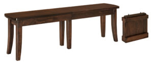 WEST POINT - Broadway Bench - Dimensions (in inches): 12.5 x 24, 12.5 x 36 Solid Top Only, 12.5 x 48, 12.5 x 60, 12.5 x 72. Solid Top or up to 4 Leaves.