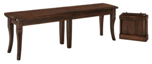 WEST POINT - Newbury Bench - Dimensions (in inches): 12.5 x 24, 12.5 x 36 Solid Top Only, 12.5 x 48, 12.5 x 60, 12.5 x 72. Solid Top or up to 4 Leaves.