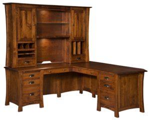 """LAMB-Arts & Crafts L Desk, 82""""w x 73""""w x 30""""h"""