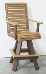 CREEEKSIDE - Rollback Bar Chair (RB90) - Size: 20 inches, bar height.