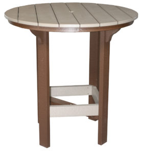 "CREEKSIDE - 42"" Round Bar Table (RT42B) - Size: 42 inches, bar height."