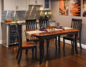 WEST POINT - Canterbury Table and Galena Side Chair Collection - Table Dimensions (in inches) 42x60, 42x66, 42x72, 48x60, 48x66, or 48x72 with up to 4 leaves - All pieces sold separately - Custom finish options available, please see store for details.
