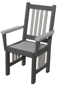 CREEKSIDE - Mission Captain's Chair (M210) - Size: 18 inches.