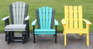 "(CH710) Child's Adirondack Glider Seat width - 16"" (CH705) Child's Adirondack Chair Seat width - 16"" (CHJ2) Child's Joya Chair Seat width - 16"""
