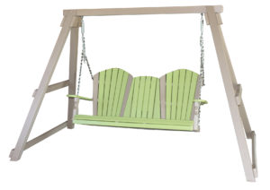 "CREEKSIDE - 5 Foot Classic Swing (C127) with A Frame (AF84) - Size: 5 Foot Swing, A Frame is 111"" wide and can accommodate 4 and 5 foot Swings."
