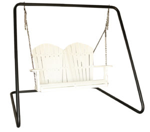 "CREEKSIDE - 4 Foot Classic Swing (C117) with Metal Swing Frame (MAF80) - Size: 4 foot swing, 84""w x 70""d x 71""h frame that can accommodate 4 and 5 foot swings."