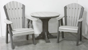 "CREEKSIDE - Classic Dining Chairs (C103 and C140)) and 34"" Round Dining Table (RT34) Set - Size: Chairs 22 inches and 34"" Table."