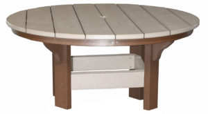CREEKSIDE - Round Coffee Table (CT42) - Size: 42 inches.
