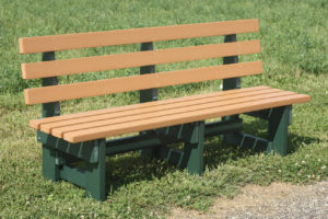 CREEKSIDE - 6' Commercial Park Bench (CB6) - Size: 6 feet.