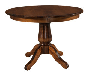 "WEST POINT - Easton Single Pedestal Table - Available in 42"" and 48"" diameters and up to two 12"" leaves - Custom finish options available, see store for details."