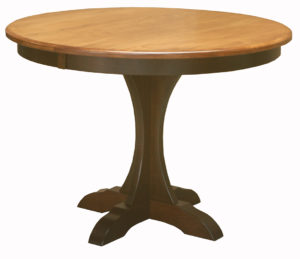 "WOODSIDE - Ellis Pedestal Table - Dimensions: 42"" or 48"" round with up to 2 leaves - Custom finish options available, please see store for details."