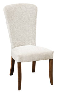 """F & N - Bailey Side Chair Overall: 20.75""""w x 26.26""""d x 40.75""""h Seating: 20.5""""w x 18.75""""d Seat height: 19.25"""" Back height from seat: 24.5"""""""