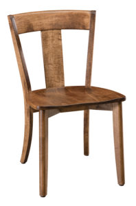 """F & N - Ellen Side Chair Overall: 19.5""""w x 22.25""""d x 32.25""""h Seating: 18.5""""w x 17.25""""d Seat height: 18"""" Back height from seat: 16.5"""""""