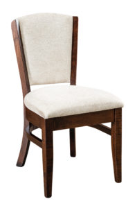 """F & N - Littlefield Side Chair Overall: 19""""w x 22.5""""d x 35""""h Seating: 19""""w x 16.5""""d Seat height: 19.5"""" Back height from seat: 17"""""""