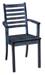 """F & N - Maple City Arm Chair Overall: 21.75""""w x 21.25""""d x 36""""h Seating: 18.25""""w x 16""""d Seat height: 18"""" Back height from seat: 19.75"""""""