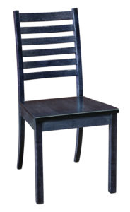 """F & N - Maple City Side Chair Overall: 18""""w x 21.25""""d x 36""""h Seating: 18""""w x 16""""d Seat height: 18"""" Back height from seat: 19.75"""""""