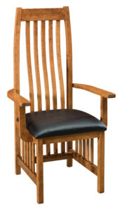 """F & N - Medford Leather Arm Chair Overall: 24.24""""w x 21.75""""d x 48""""h Seating: 20.25""""w x 17.5""""d Seat height: 17.75"""" Back height from seat: 30.75"""""""