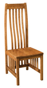 """F & N - Medford Side Chair Overall: 18.5""""w x 21.75""""d x 48""""h Seating: 18.5""""w x 17.5""""d Seat height: 17.75"""" Back height from seat: 30.75"""""""