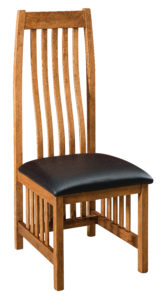 """F & N - Medford Leather Side Chair Overall: 18.5""""w x 21.75""""d x 48""""h Seating: 18.5""""w x 17.5""""d Seat height: 17.75"""" Back height from seat: 30.75"""""""